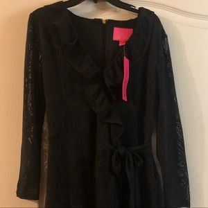New with tags-Lilly Pulitzer black lace romper